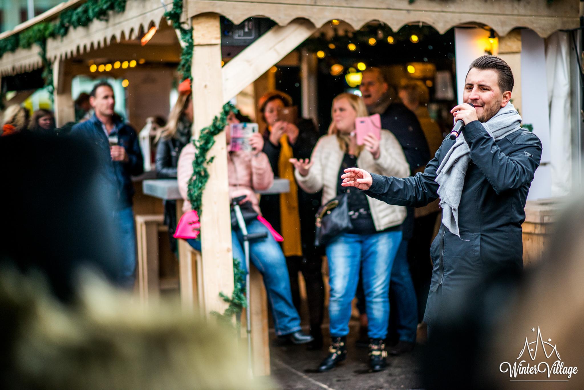 Winter Village Hoofddorp openingsceremonie met Danny Froger